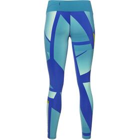 asics fuzeX Hardloop Shorts Dames groen/blauw